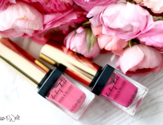 1 2 Kiss and Blush Yves Saint Laurent Blush Lippenstift Lip Stain Review Bilder Tragebilder