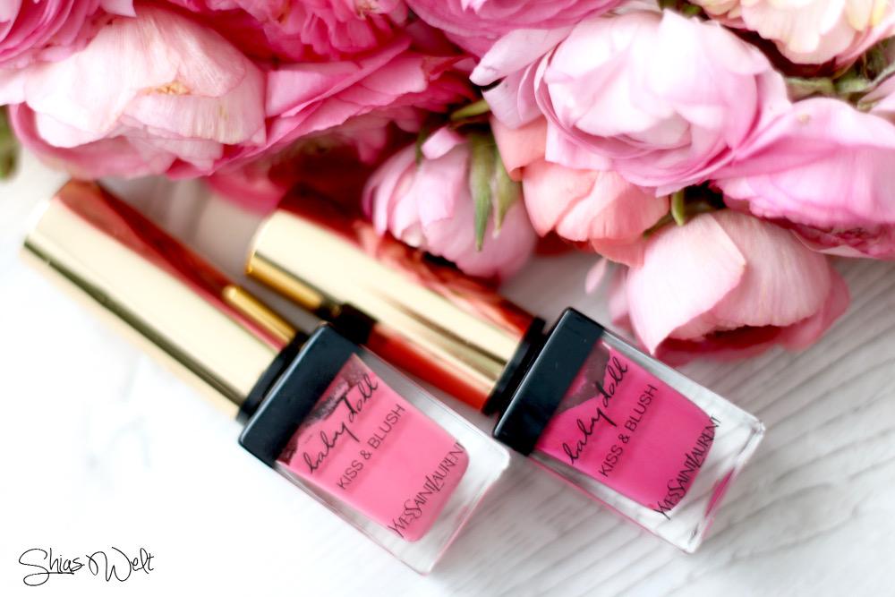 1 2 Kiss and Blush Yves Saint Laurent Blush Lippenstift Lip Stain Review Bilder Tragebilder