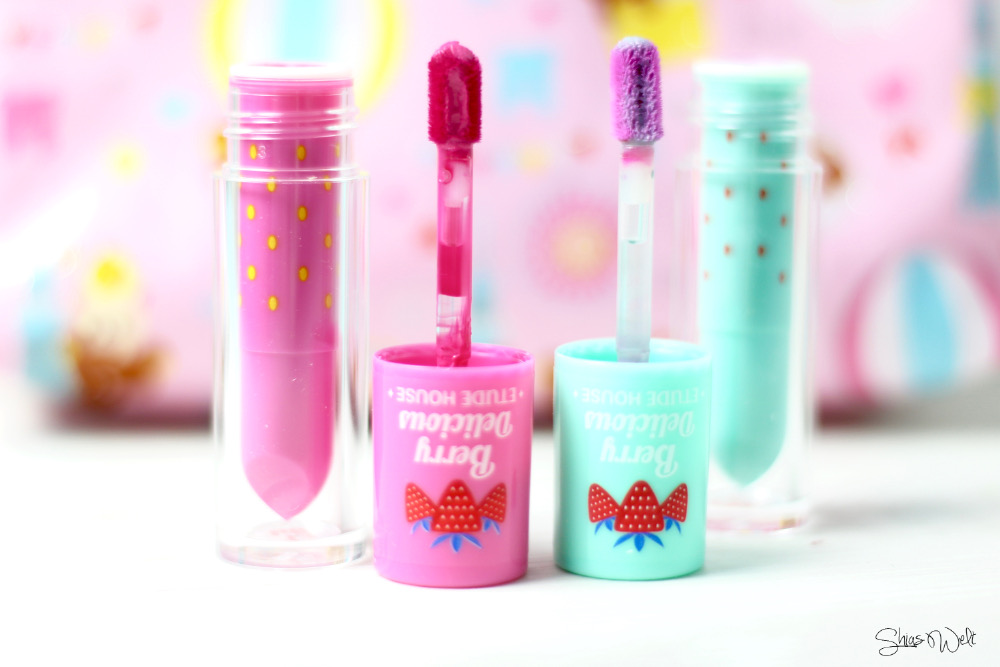 Etude House Berry Delicios Color in Liquid Lips Juicy Swatches Swatch Test Erfahrung Review Korean Cosmetics Beautyblog