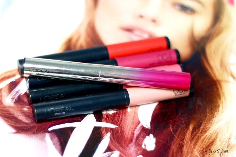Indefectible Matt Lippen-Puder-Stift Lippenstift Bitten Lips L'Oréal Swatch Test Erfahrung Blossom Caresse