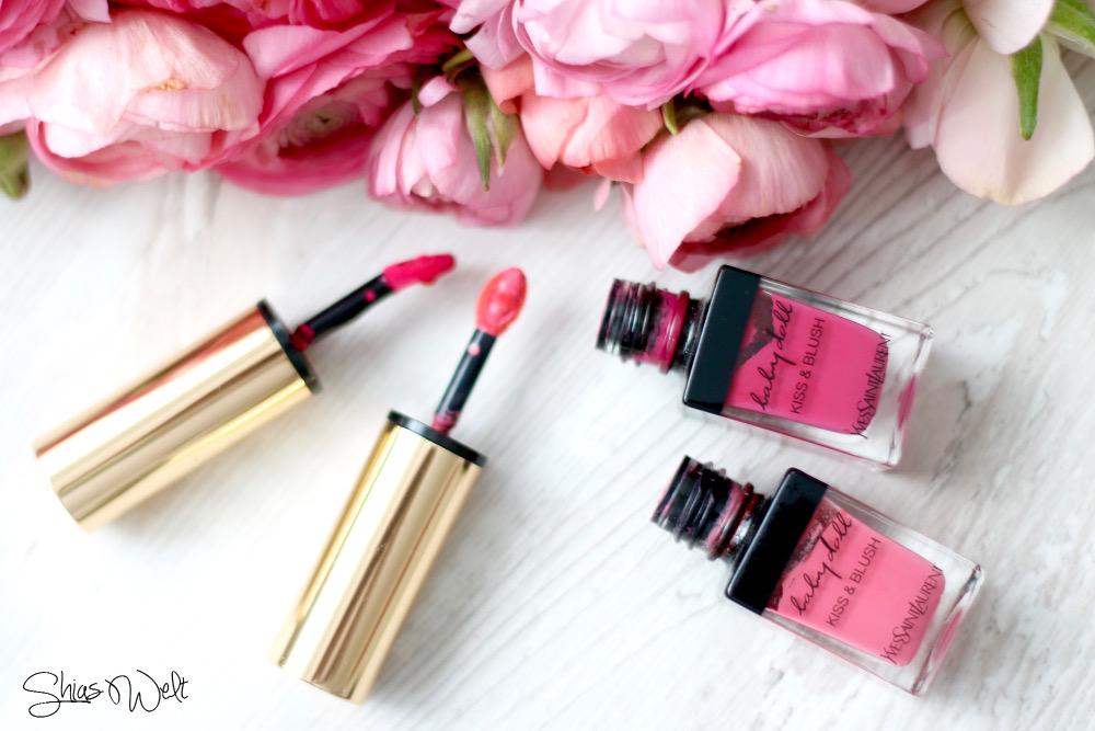 Kiss und Blush Farbe 1 und 2 Rouge blog Beauty Tragebild Review Yves Saint Laurent