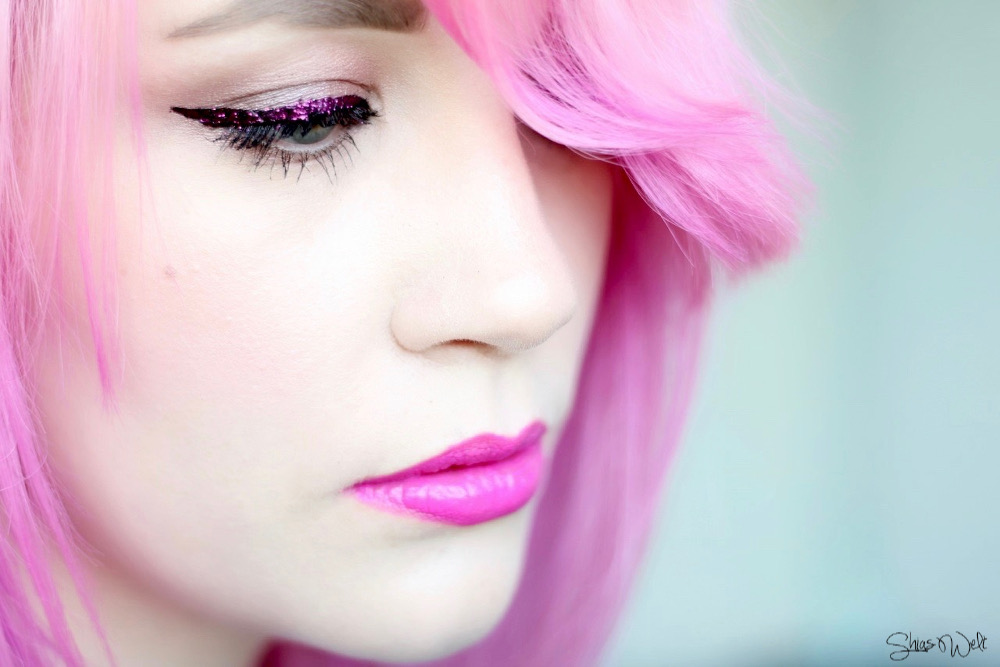 Pastel Pink Hair Review Lit Cosmetics Glitter I Feel Love Size 3
