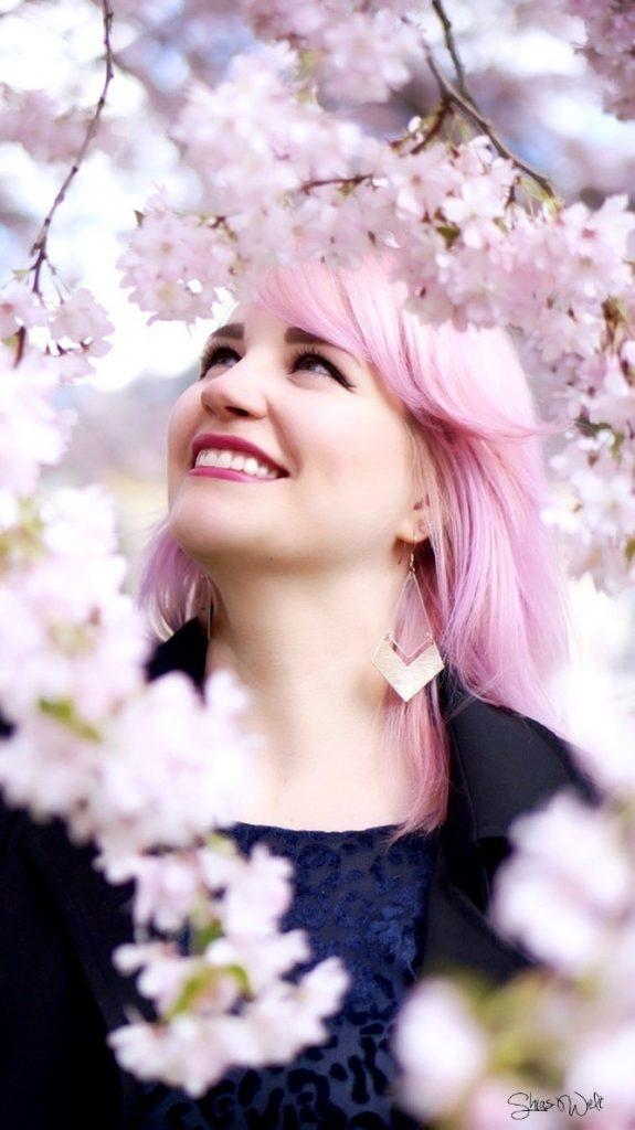 Pink Hair Sakura Cotton Candy Hair Directions Pastel Zara Fashion BLogger Outfit