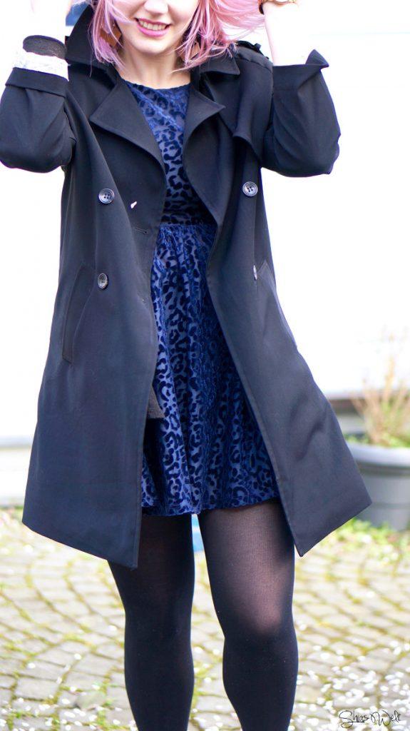 Wonderplace Korea Korea Fashion Sakura Coat Black Zara Dress Outfit