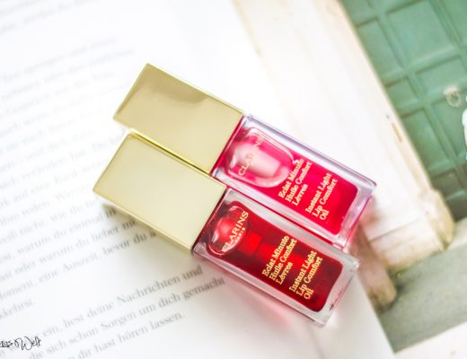Clarins Eclat Minute Huile Confort Lèvres  Erfahrugn Review Raspberry Red Berry Blog Test