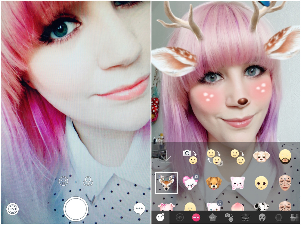 Snow App better than snapchat alternative Sticker Motion Sticker App Review Test Erfahrung Fun Kawaii Korea