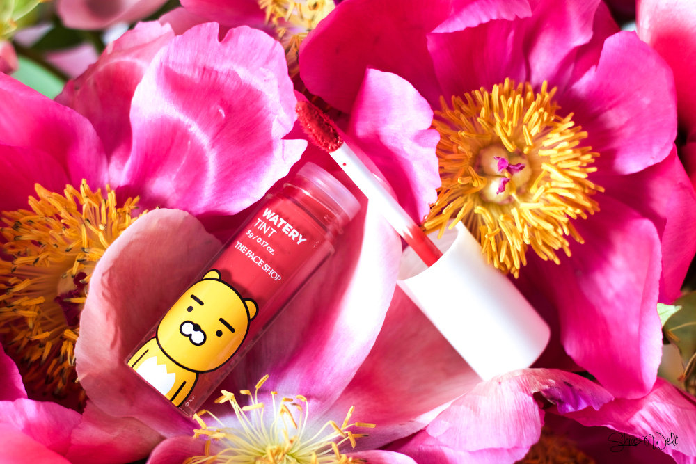 The Face Shop Kakao Friends Watery Tint Rose Garden 06 Swatch Review Test