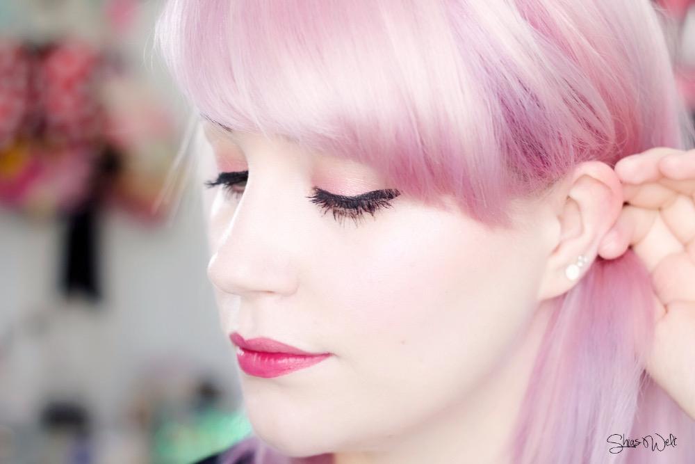 The Face Shop Lovely Me:EX Pastel Cushion Blusher Swatch Tragebild Shias Welt Beauty Blog