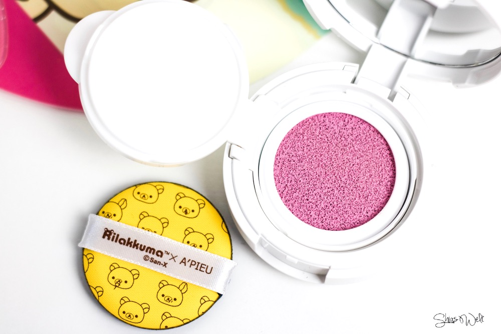 Rilakkuma x A'Pieu Air-Fit A'Pieu Cushion Blusher Swatch Cushion Blush Korean