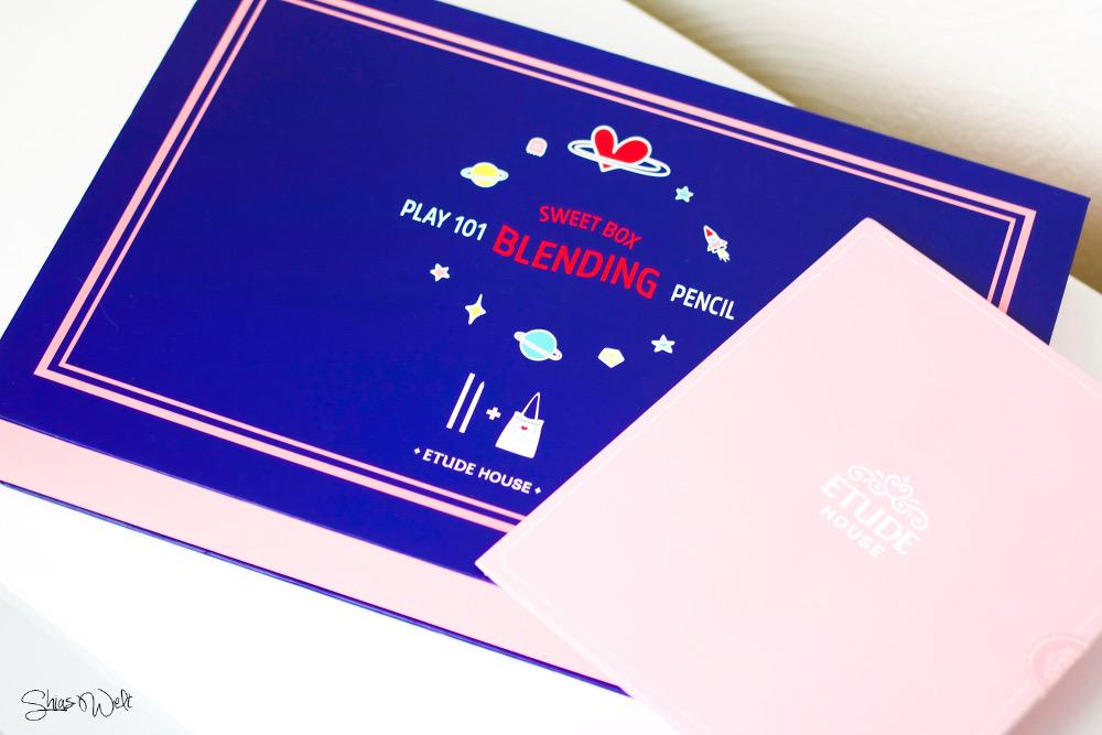 Etude House Pink Bird Sweet Box Play 101 Blending Pencil Review Korean Beauty Swatch Test Blog Look