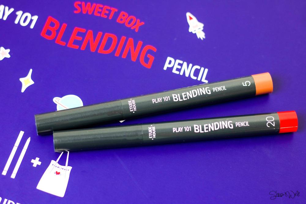 Etude House Pink Bird Sweet Box Play 101 Blending Pencil Review Test Erfahrung Korean Make Up