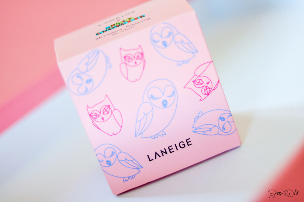 LANEIGE X LUCKY CHOUETTE BB CUSHION WHITENING #13 Review Text Anwendung Difference korean beauty