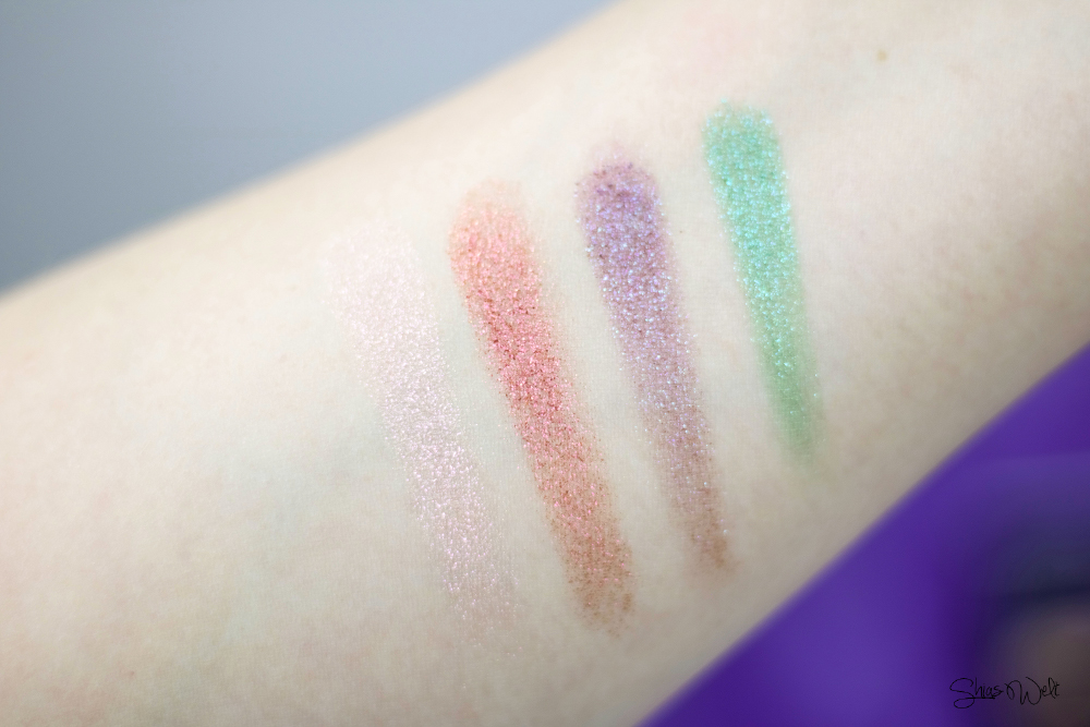 Urban Decay Moondust Review Test Make Up Look Glitter Beauty Blog Swatch swatches