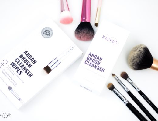 KICHO ARGAN BRUSH CLEANSER + CLEANSER WIPES Blogpost Shias Welt