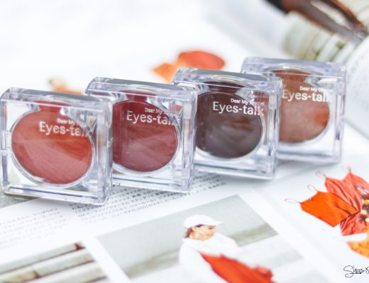ETUDE HOUSE Dear My Enamel Eyes-Talk PK002 OR201 BE101 BR402  Beauty Blog Shias Welt Swatches Look