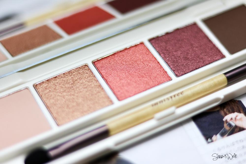 Innisfree Jeju Color Picker Shadow Kit No. 2 Review Anwendung Shias Welt Test Beauty Blog