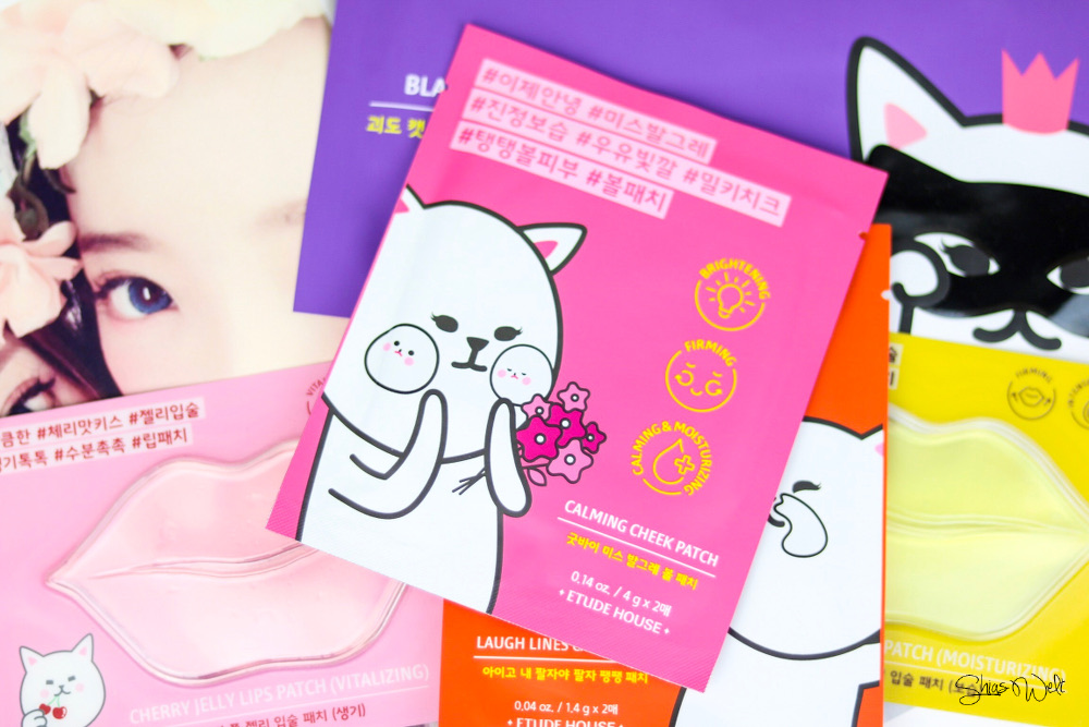 Etude House Black Hydrogel Eye Patch Cherry Jelly Lips Patch Honey Jelly Lips Patch Calming Cheek Patch Laugh Lines Care Patch Erfahrung Anwendung