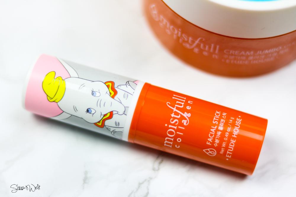 ETUDE HOUSE Moistfull Collagen Facial Stick - Disney Dumbo Edition Shias Welt Test online Blog Korean Beauty Swatch Anwendung