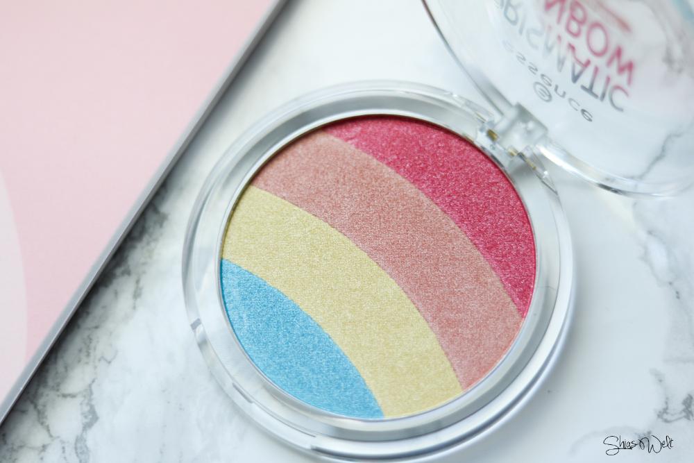 Essence Prismatic Rainbow Glow Highlighter Test Review Regenbogen Shias Welt