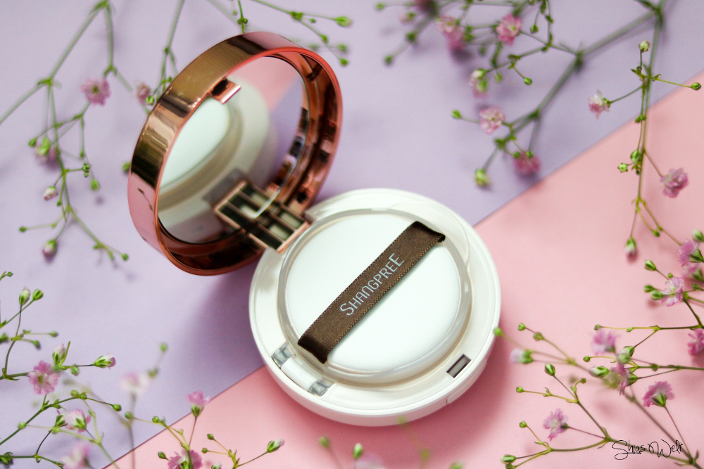 Shangpree Luminous Cover Cushion Compact Review Test Erfahrung look