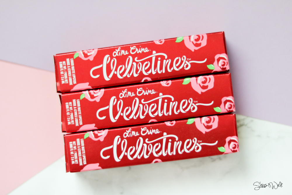 Lime Crime - Velvetines Cupid, Polly & Zenon Swatch Review Erfahrung Shop Make Up Look