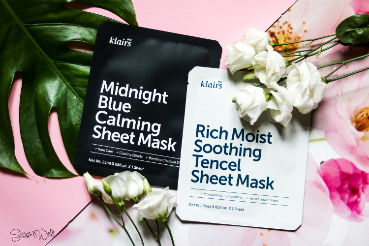 Klairs Sheet Masks - Midnight Blue Calming & Rich Moist Soothing Tencel